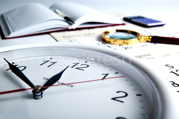 business stil life with clockface Stock photo © mizar_21984