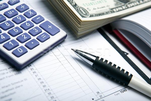 учета деньги долларов калькулятор работу Сток-фото © mizar_21984