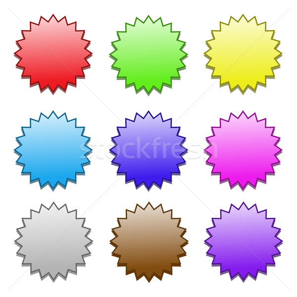 colored stickers pattern Stock photo © mizar_21984