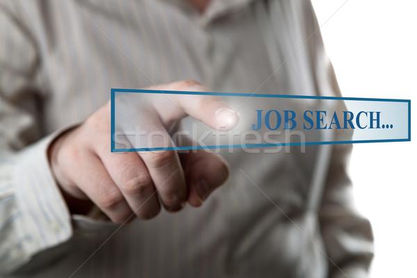Kéz cím bár álláskeresés fehér munka Stock fotó © mizar_21984