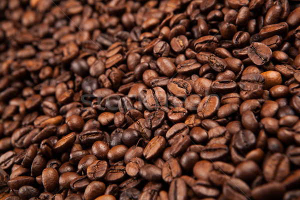 roasted coffee beans close up Stock photo © mizar_21984