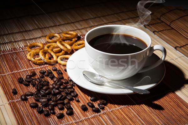 Koffie stilleven tabel voedsel hout Stockfoto © mizar_21984