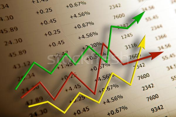 Tabela números dígitos diagrama financiar Foto stock © mizar_21984