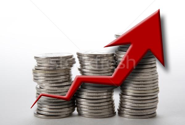 Moedas diagrama negócio mercado trabalho Foto stock © mizar_21984