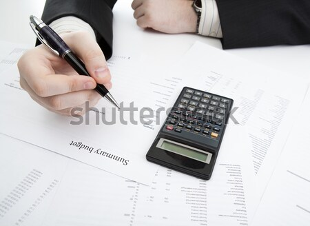 Human hands and document with the title of job search Stock photo © mizar_21984