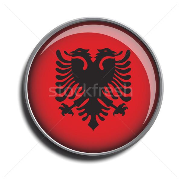 フラグ アイコン webボタン アルバニア 孤立した 白 ストックフォト © mizar_21984