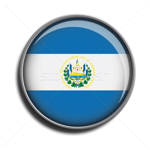 Bandeira ícone El Salvador isolado branco Foto stock © mizar_21984