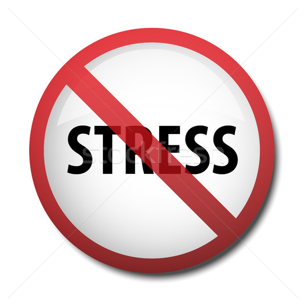 illustration of a sign prohibiting stress Stock photo © mizar_21984
