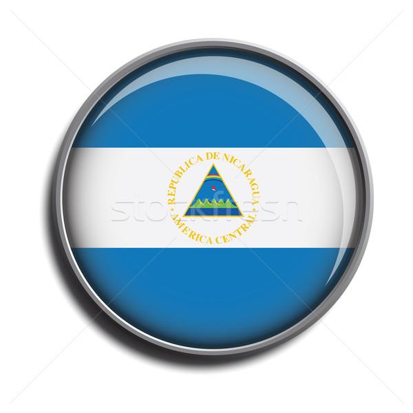 フラグ アイコン webボタン ニカラグア 孤立した 白 ストックフォト © mizar_21984