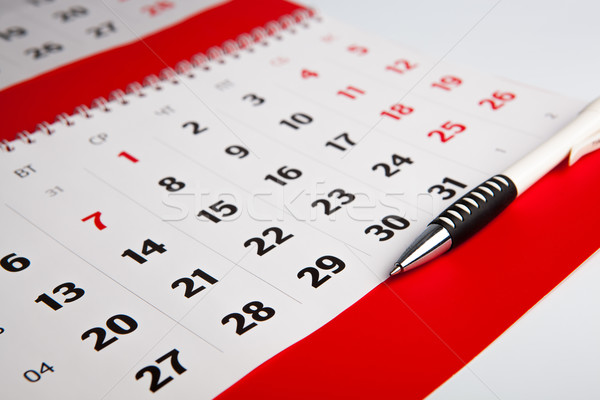 Calendar of the year Stock photo © mizar_21984