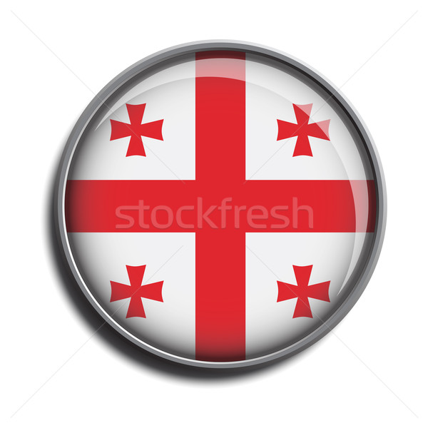 flag icon web button georgia Stock photo © mizar_21984