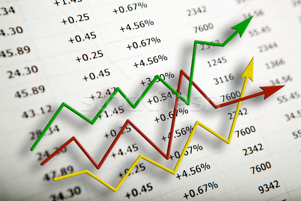 Asztal számok számjegyek diagram közelkép pénzügy Stock fotó © mizar_21984
