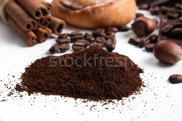 handful of ground coffee close up Stock photo © mizar_21984