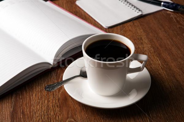 бизнеса натюрморт Кубок черный кофе Desktop кофе Сток-фото © mizar_21984