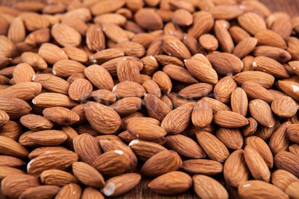 Grain almonds on close up Stock photo © mizar_21984