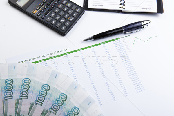 business still-life with banknotes Stock photo © mizar_21984