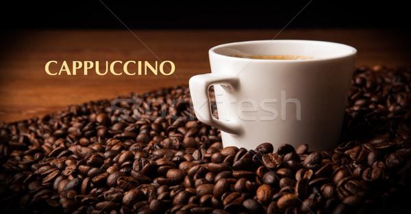 Кубок черный кофе кофе бобов Сток-фото © mizar_21984