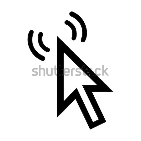 Cursor 3D ícone ondas branco internet Foto stock © mizar_21984