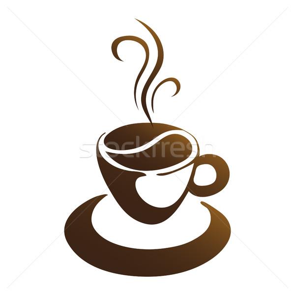 горячей чашку кофе вектора белый кухне пить Сток-фото © mizar_21984