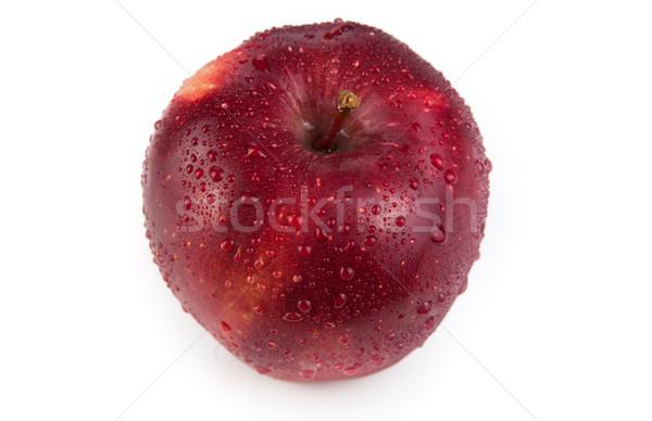 Gesztenyebarna alma közelkép fehér gyümölcs desszert Stock fotó © mizar_21984