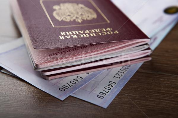 Paszport pociągu bilety bilet dokumentu Zdjęcia stock © mizar_21984