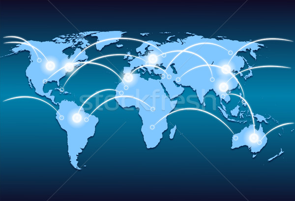 world map and world wide web Stock photo © mizar_21984