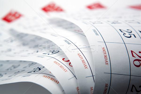 big pile of wall calendar sheets closeup Stock photo © mizar_21984