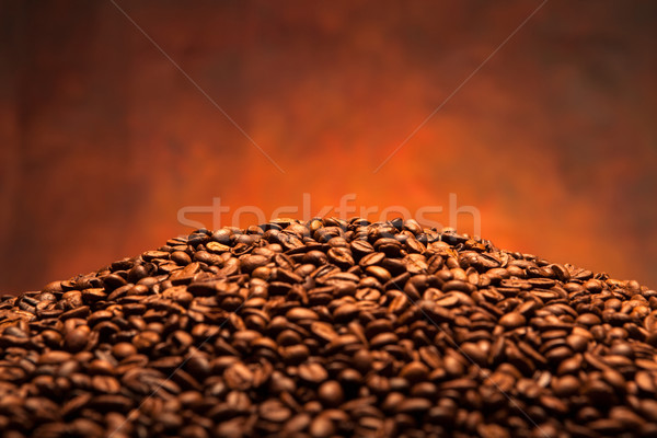 pile of coffee beans Stock photo © mizar_21984