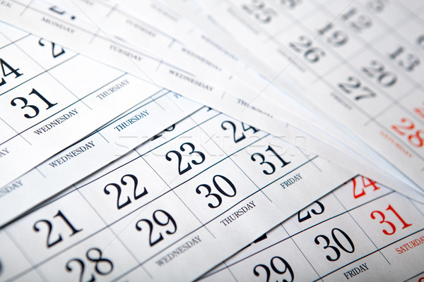 pile of calendar sheets close up Stock photo © mizar_21984