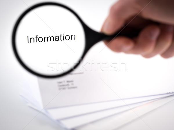 情報 手紙 言葉 レターヘッド ビジネス 手 ストックフォト © mobi68