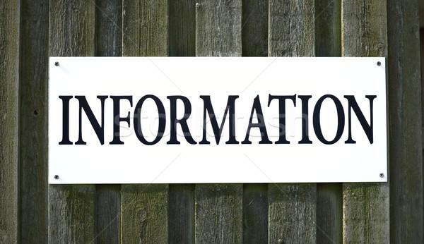 Információ jel felirat fekete fehér iskolatábla tábla Stock fotó © mobi68