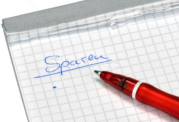 Rojo lápiz lista escrito pluma blanco Foto stock © mobi68