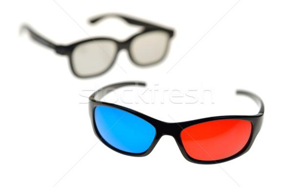 Gafas gafas 3d película espacio azul Foto stock © mobi68
