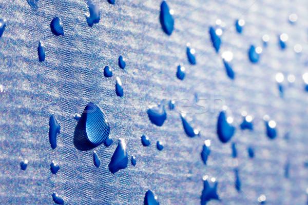 Gotas de agua azul agua fondo verano caída Foto stock © mobi68