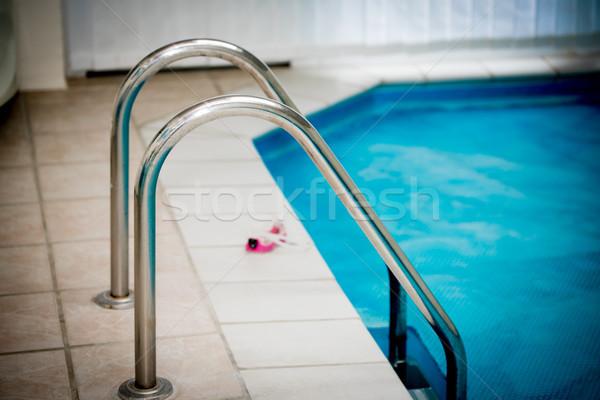 Бассейн лестнице воды синий полу Сток-фото © mobi68