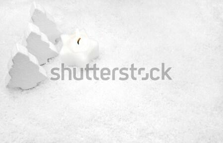 Blanco vela nieve abeto árboles fondo Foto stock © mobi68