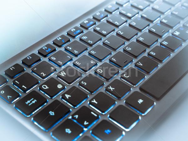 Teclado portátil ordenador oficina trabajo Foto stock © mobi68