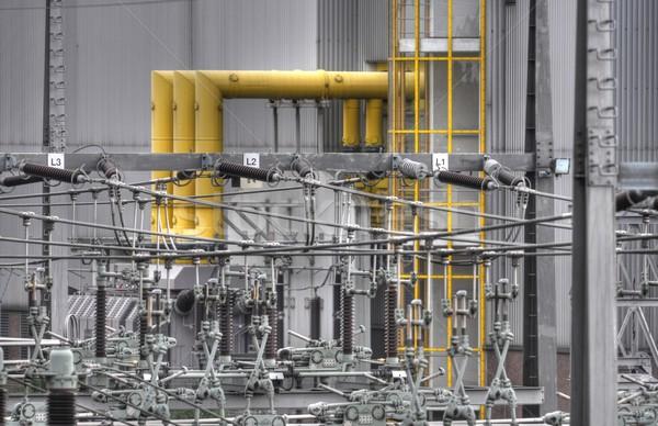 Cable poder eléctrica cerámica gris peligroso Foto stock © mobi68