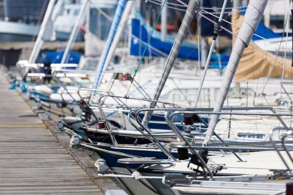 безопасной порт Парусники лодка судно парусного Сток-фото © mobi68