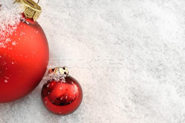 Navidad nieve rojo luz fondo Foto stock © mobi68