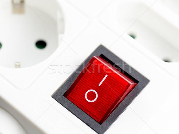Foto stock: Cambiar · rojo · poder · electricidad · plástico · eléctrica