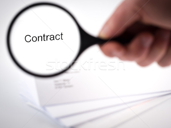 Contract dekken brief woord business Stockfoto © mobi68