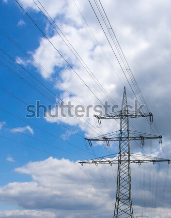 electricity pylon Stock photo © mobi68
