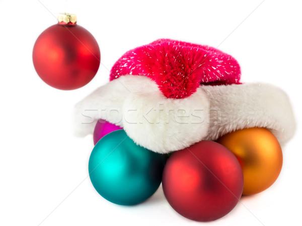 Navidad decoraciones papá noel invierno vacaciones CAP Foto stock © mobi68