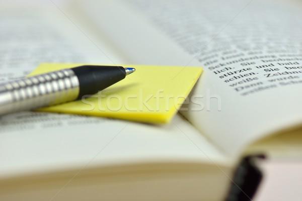 Notas nota bloc de notas escribir amarillo Foto stock © mobi68