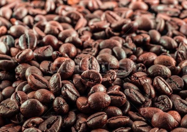 Granos de café espacio de la copia fondo frescos marrón Foto stock © mobi68