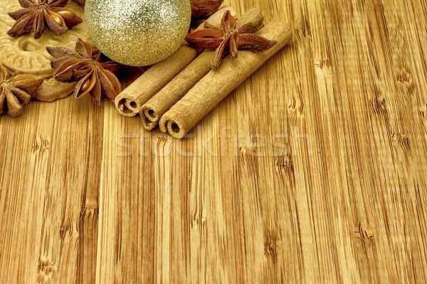 Navidad decoraciones madera pelota cookie decoración Foto stock © mobi68