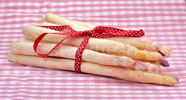Foto stock: Espárragos · corte · rojo · cabeza