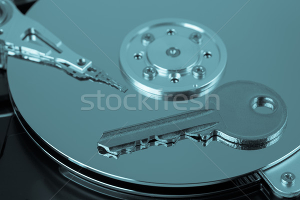 Foto stock: Clave · abierto · ordenador · información