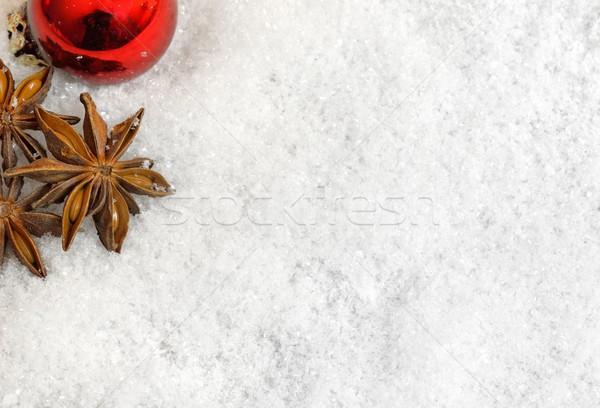 Navidad decoraciones nieve fondo pelota estrellas Foto stock © mobi68